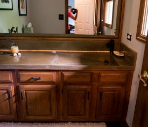 Decorative concrete custom countertop integral sink Morris 1 janet kay photographer
