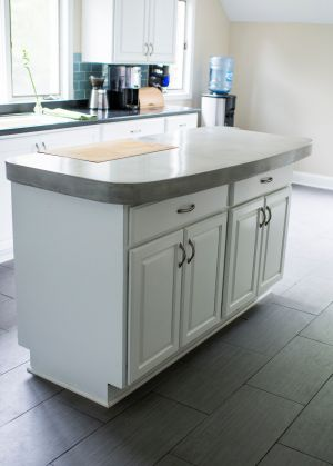 Decorative concrete custom countertop island cincola 4 janet kay photographer