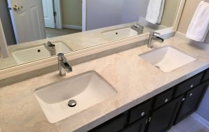 Decorative concrete custom countertop reclaimed mirror glass clewell2.JPG