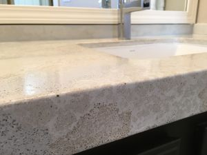 Decorative concrete custom countertop reclaimed mirror glass edge detail clewell4.JPG