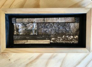 decorative concrete birch bark tile shadowbox 3