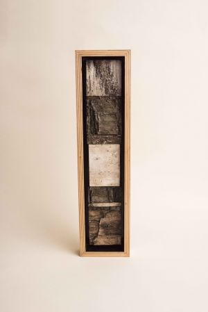 decorative concrete birch bark tile shadowbox 4