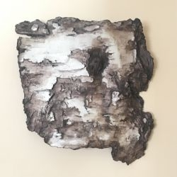 decorative concrete birch bark torso 3