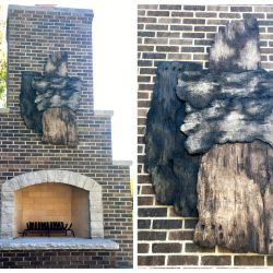 decorative concrete exterior birch bark sculpturejpg
