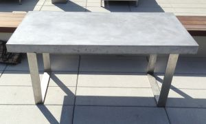 decorative concrete grey tabletop stainless steel catalyst 2