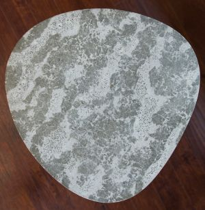 decorative concrete guitar pic tabletop 24dia cloudy grey reclaimed glass