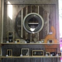 decorative concrete barnwood mirror
