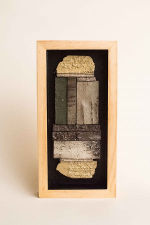 decorative concrete birch bark tile shadowbox 1