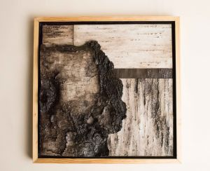 decorative concrete birch bark tile shadowbox 2