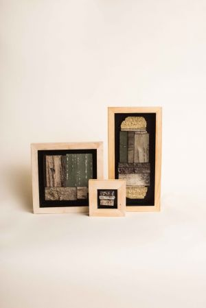 decorative concrete birch bark tile shadowboxes