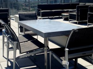 Smooth surface, rectangle table, Glass Fiber Reinforced, Concrete Dining Table,